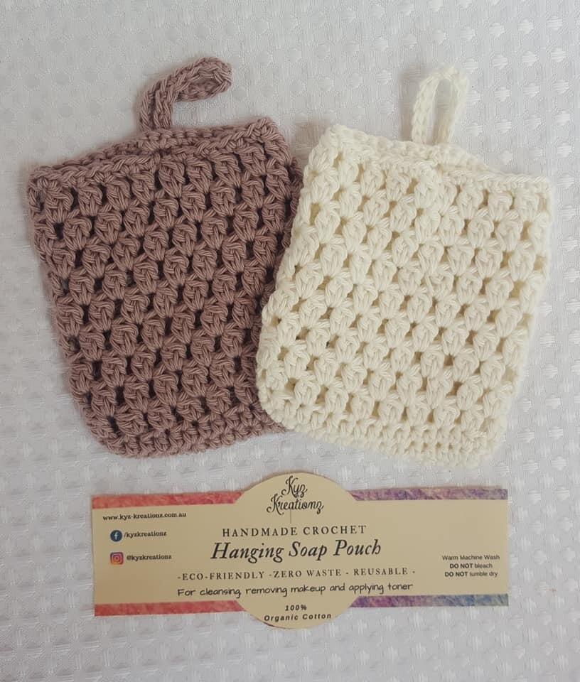 Made to Order | Crochet Soap Pouch (pack of 2) - Ashen Mink & Broken Almond