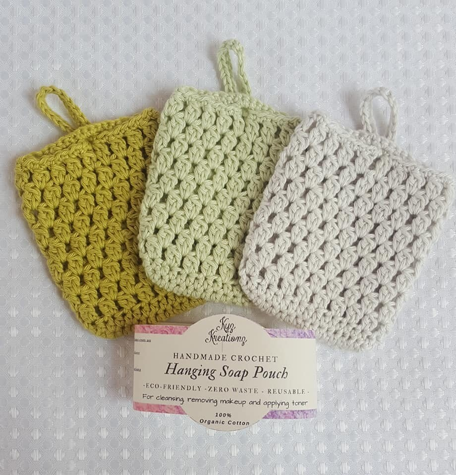 Made to Order   Crochet Soap Pouch (pack of 3) - Avocado Smash