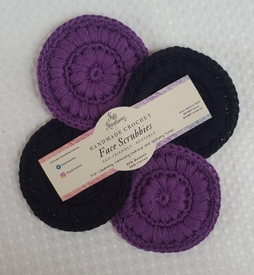 Made to Order | Face Scrubbies (pack of 4) - Purple Magic