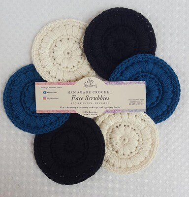 Made to Order | Face Scrubbies (pack of 6) - Sapphire Nights