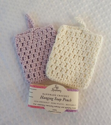 Made to Order | Crochet Soap Pouch (pack of 2) - Lavender Haze & Broken Almond
