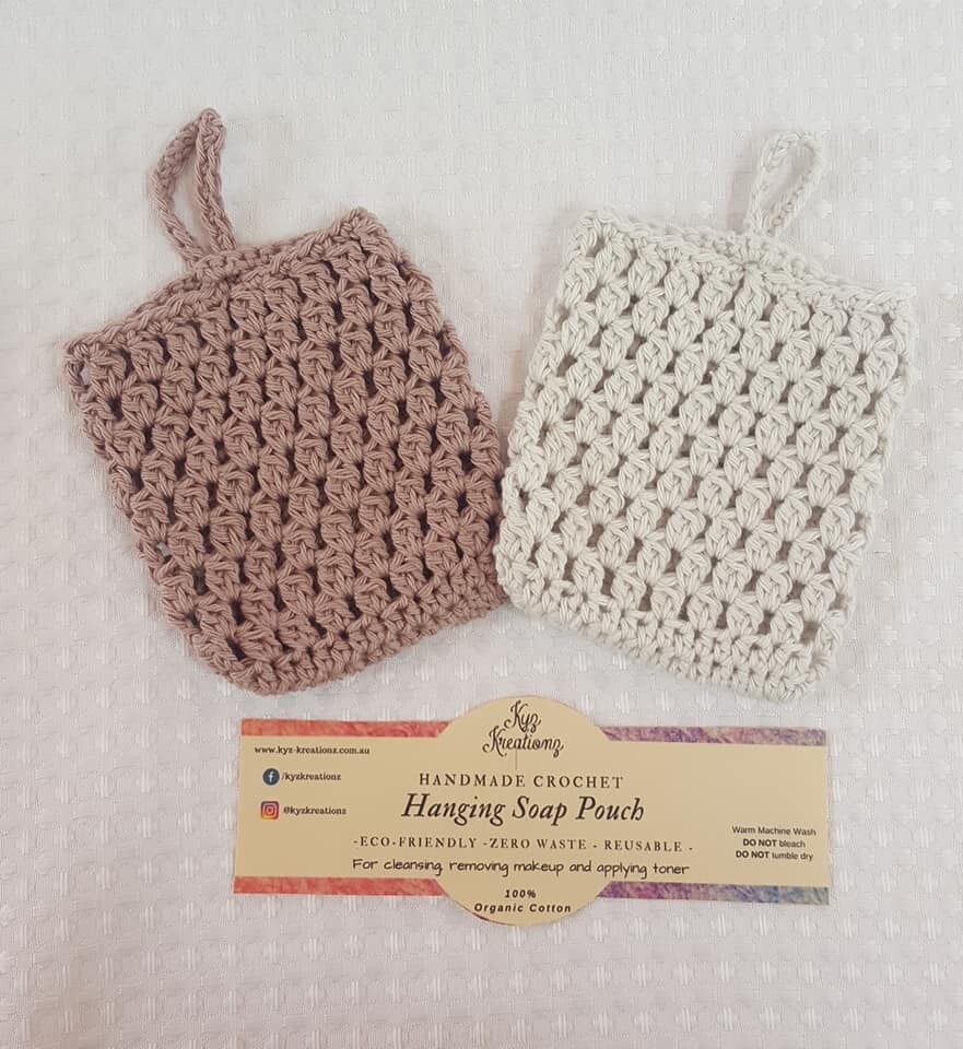 Made to Order | Crochet Soap Pouch (pack of 2) - Chocolate Cream