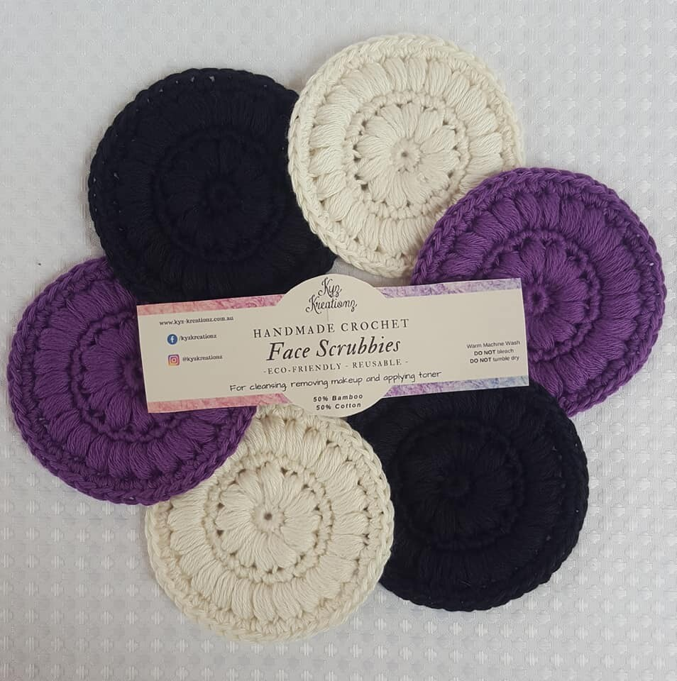 Made to Order   Face Scrubbies (pack of 6) - Purple Storm