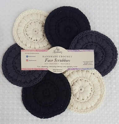 Made to Order | Face Scrubbies (pack of 6) - Stormy Skies