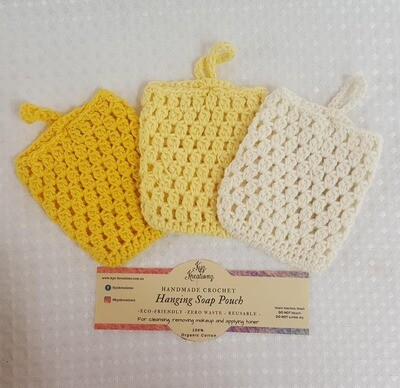 Made to Order | Crochet Soap Pouch (pack of 3) - Zesty Lemon