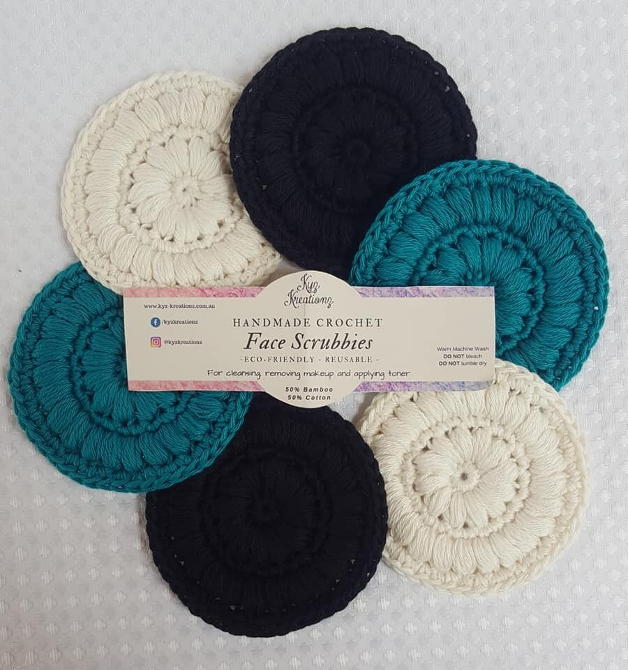 Made to Order   Face Scrubbies (pack of 6) - Teal Night Sky