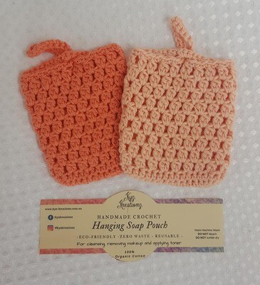 Made to Order | Crochet Soap Pouch (pack of 2) - Desert Bloom & Peach Fuzz