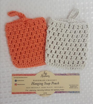 Made to Order | Crochet Soap Pouch (pack of 2) - Desert Bloom & Soft Cloud