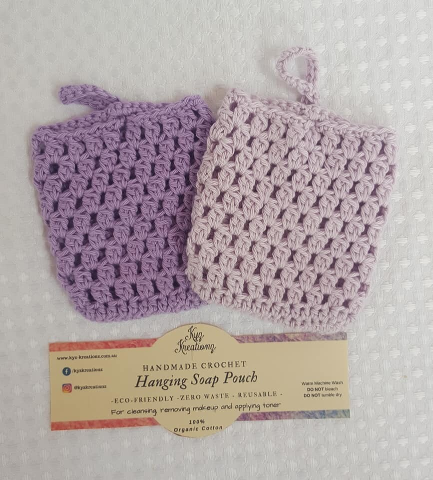 Made to Order | Crochet Soap Pouch (pack of 2) - Lavender & Lavender Haze