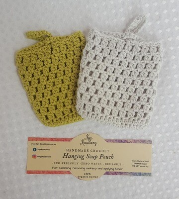 Made to Order | Crochet Soap Pouch (pack of 2) - Sapling & Soft Cloud