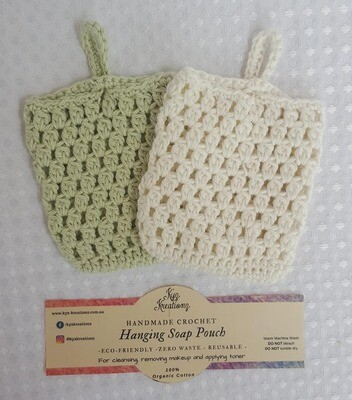 Made to Order | Crochet Soap Pouch (pack of 2) - Sweet Apple & Broken Almond