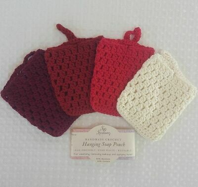 Made to Order | Crochet Hanging Soap Pouch (pack of 2) - Berrylicious