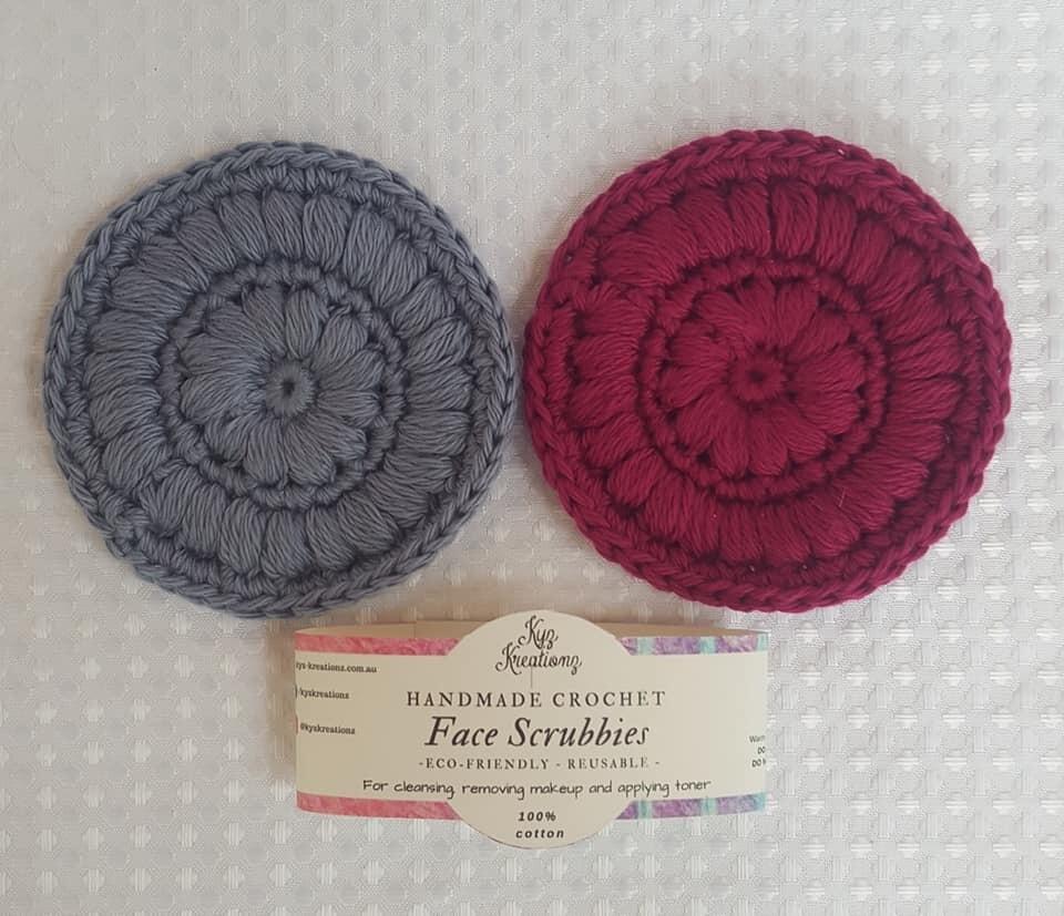 Crochet Face Scrubbies (pack of 2)