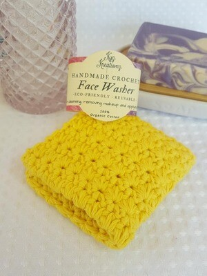 Made to Order | Crochet Face Washer - Gentle Primrose
