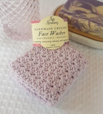 Made to Order | Crochet Face Washer - Lavender Haze