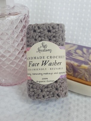 Made to Order | Crochet Face Washer - Frosted Silver