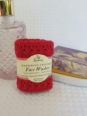 Made to Order | Crochet Face Washer - Hot Berry