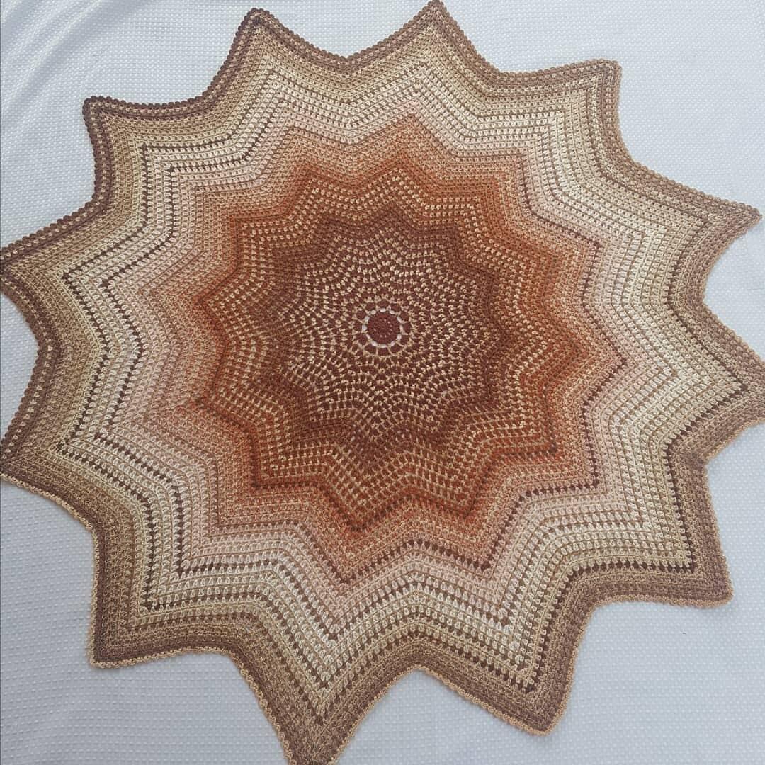 Crochet 'Kaleidoscope Star' Blanket