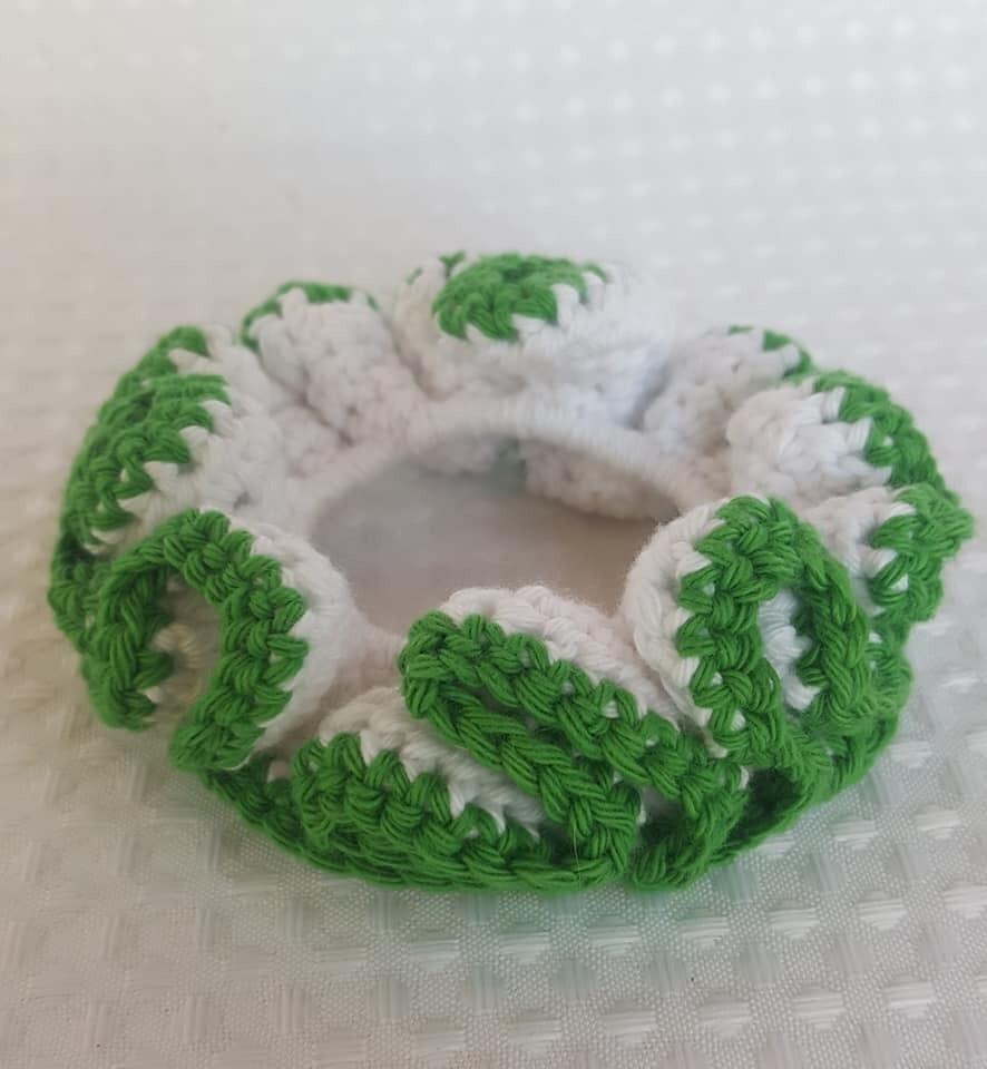 Crochet Hair Scrunchie - 100% Cotton
