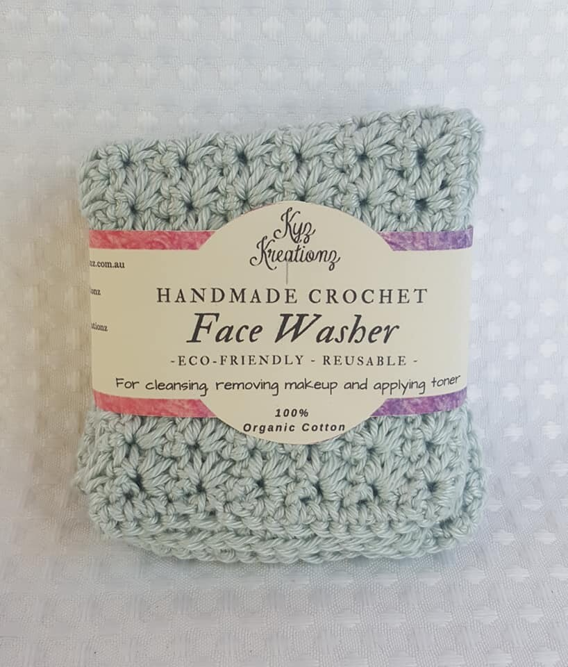 Baby/Child Crochet Face Washers - pack of 2- Small
