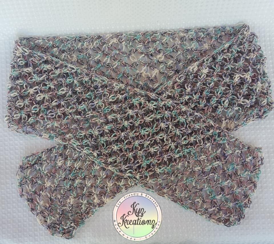 Crochet 'Fire Flies' Scarf