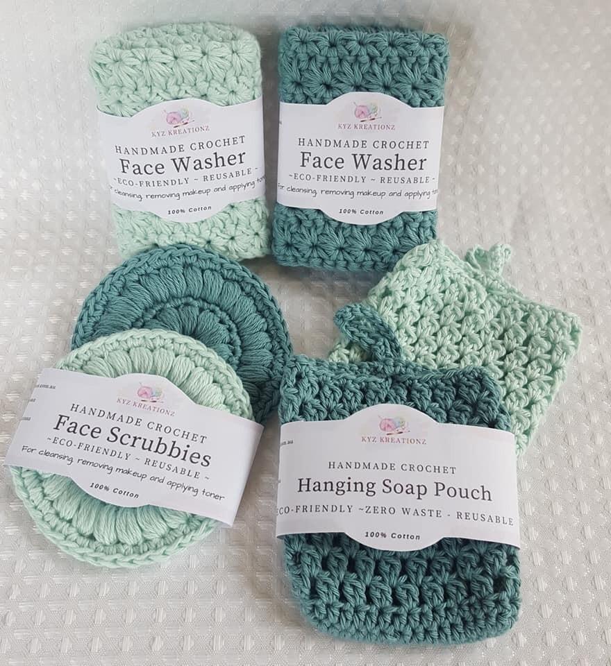 Eco-Friendly Handmade Crochet Bath Set