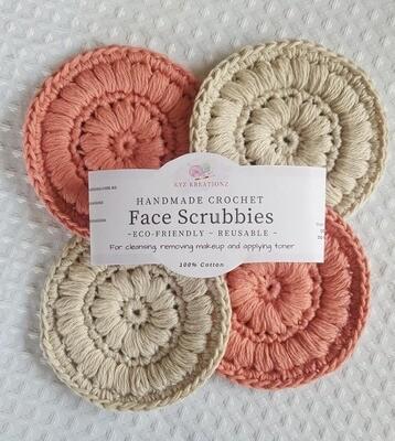 Crochet Face Scrubbies (pack of 4)