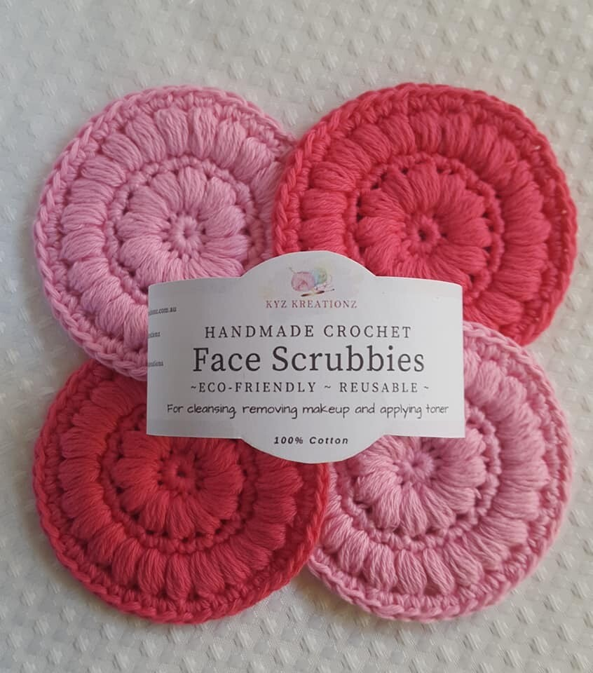Crochet Face Scrubbies (pack of 4) - Pinks