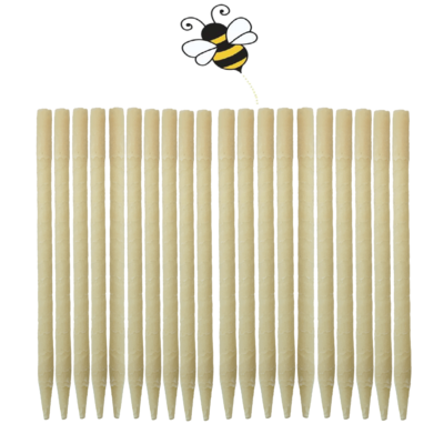 20pk 100% Beeswax Ear Candles