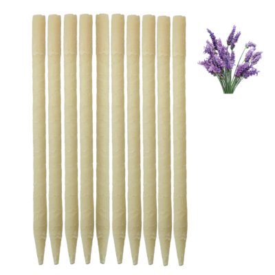 10pk Lavender Beeswax Ear Candles
