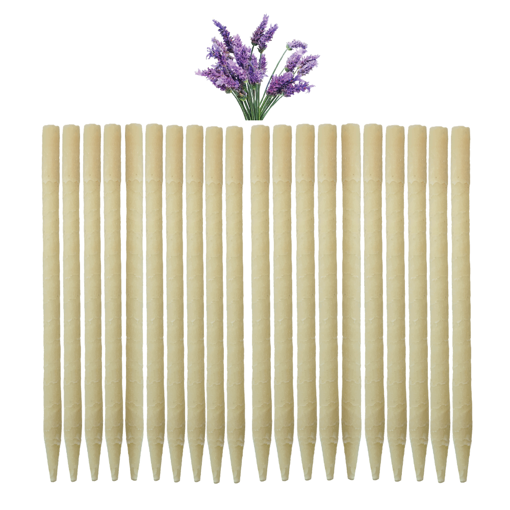 20pk Lavender Beeswax Ear Candles