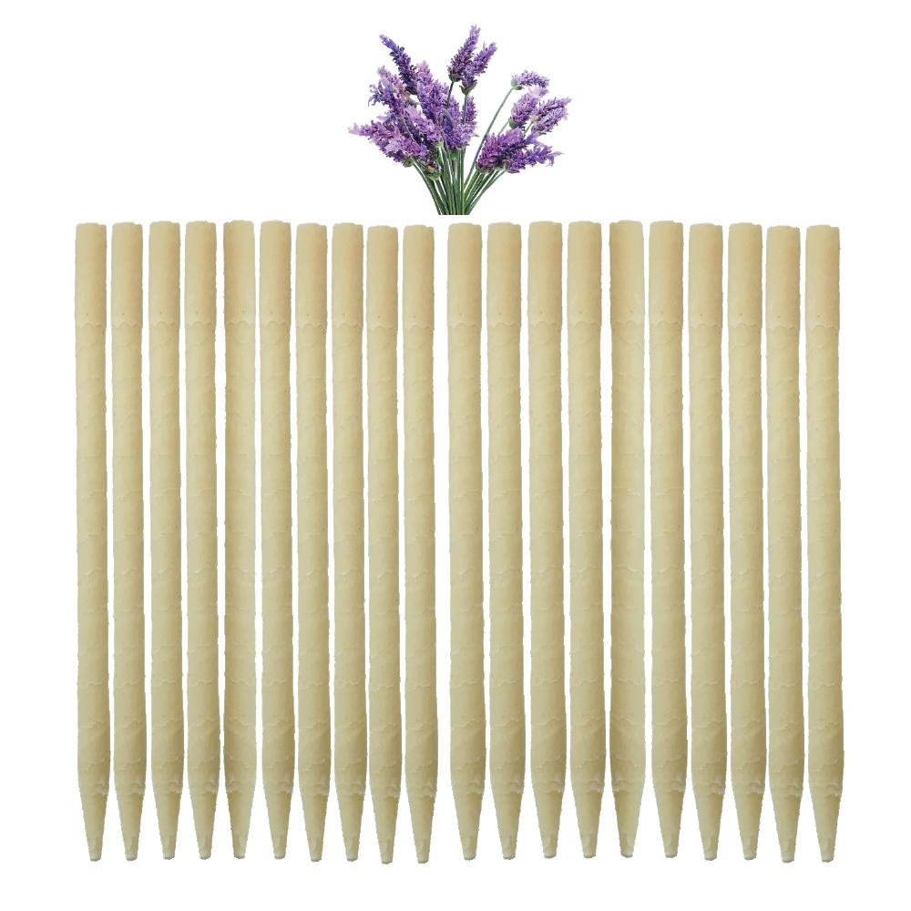 20pk Lavender Paraffin Ear Candles