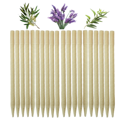 20pk Herbal Beeswax Ear Candles  (Infused w/Lavender, Eucalyptus, & Tea Tree Essential Oils)