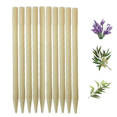 10pk Herbal Beeswax Ear Candles  (Infused w/Lavender, Eucalyptus, & Tea Tree Essential Oils)