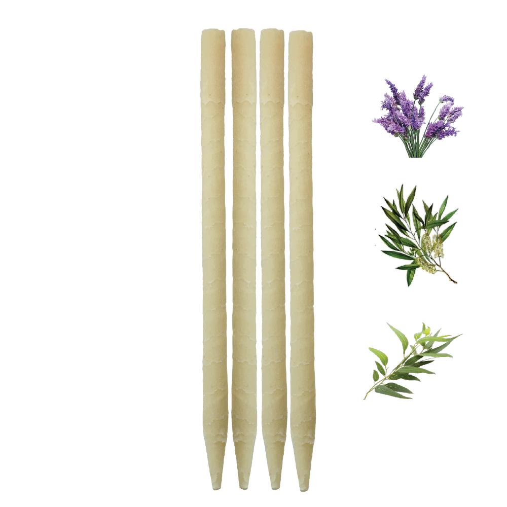 4pk Herbal Paraffin Ear Candles  (Infused w/Lavender, Eucalyptus, & Tea Tree Essential Oils)