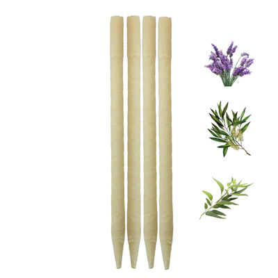 4pk Herbal Beeswax Ear Candles  (Infused w/Lavender, Eucalyptus, & Tea Tree Essential Oils)