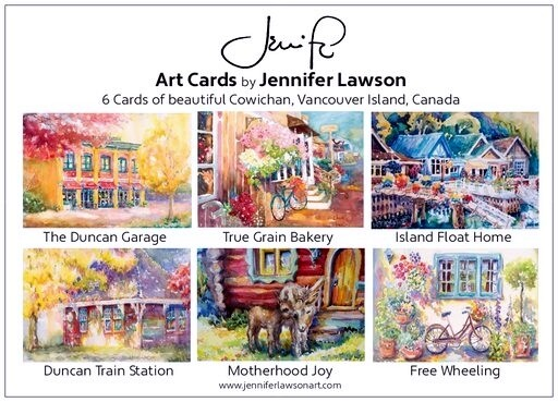 Jennifer Lawson card box of 6