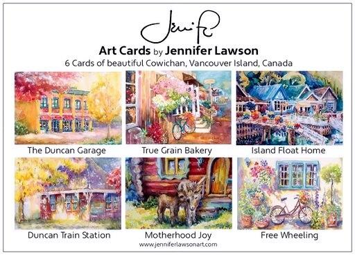 Jennifer Lawson card box of 6