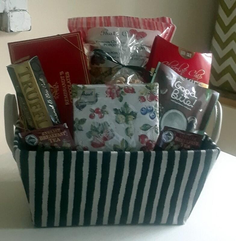 Striped Goody Basket