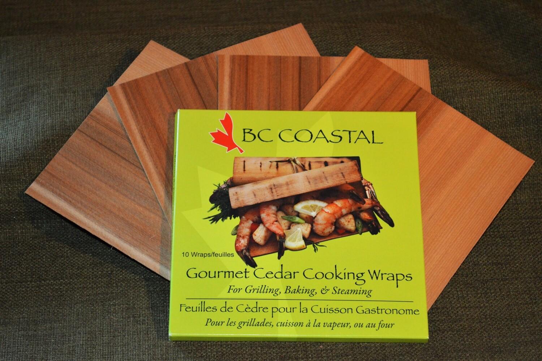 "Cedar Cooking Wraps 6"" x 6"" without rub"