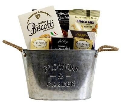 Flowers and Garden Snack basket