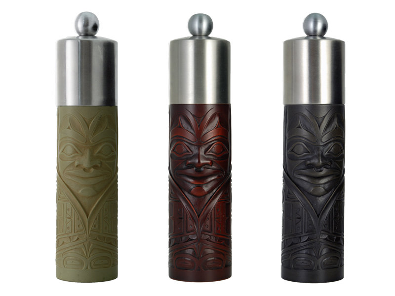 Professional Chef grade grinders with NW Coast Native Design