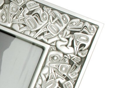 Pewter NW Native Design photo frame