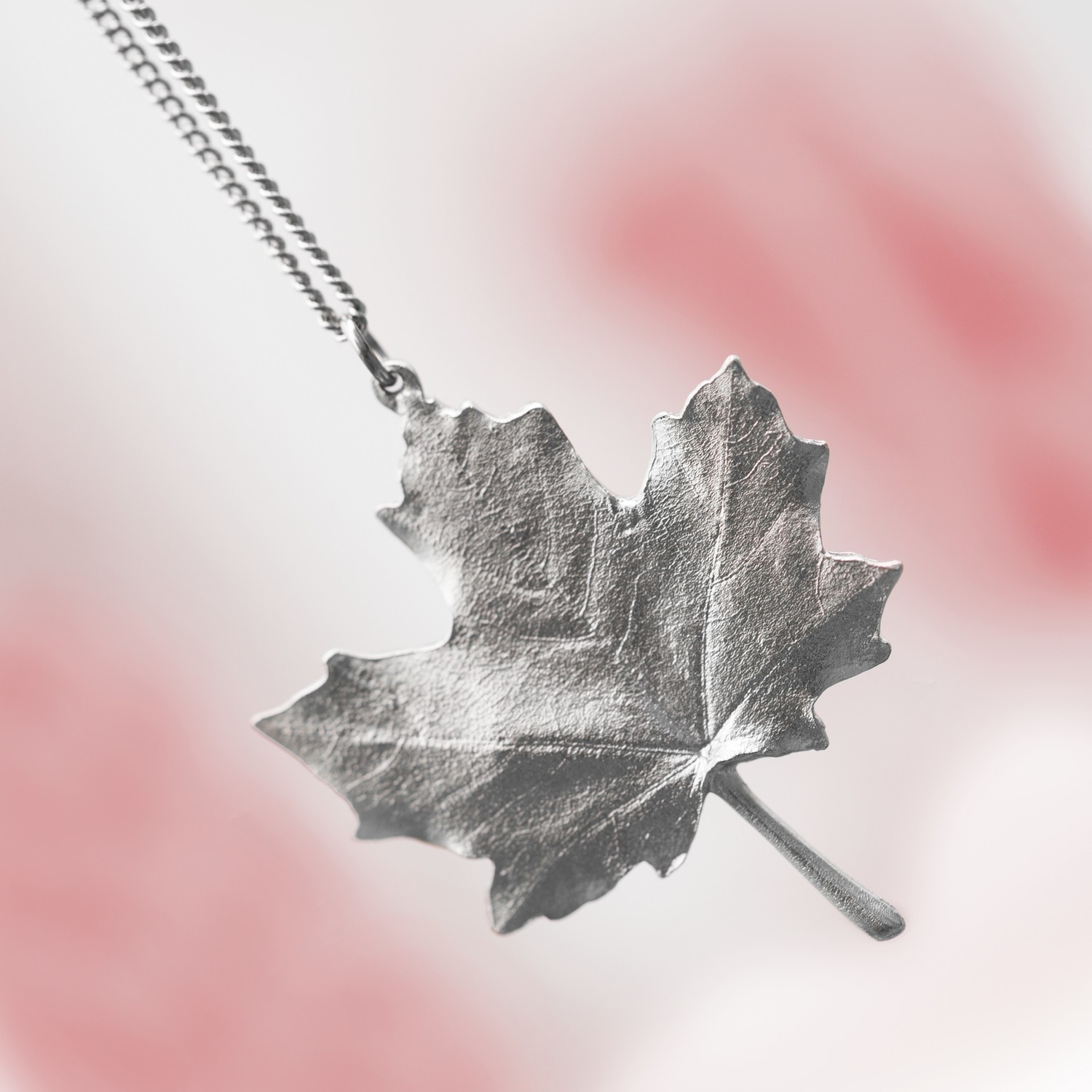 Pewter Maple Leaf Necklace