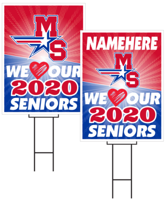 Millard South Senior Sign