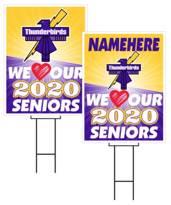 Bellevue West Senior Sign