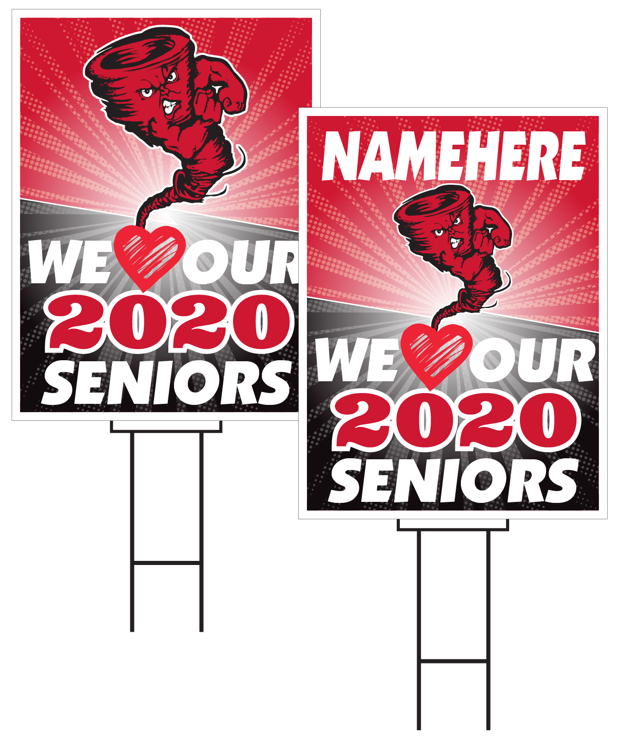Harlan Senior Sign