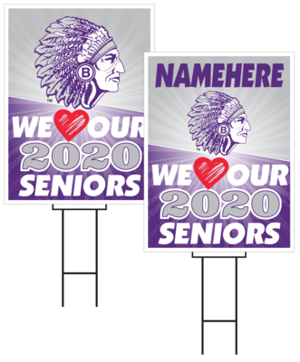 Bellevue East Senior Sign