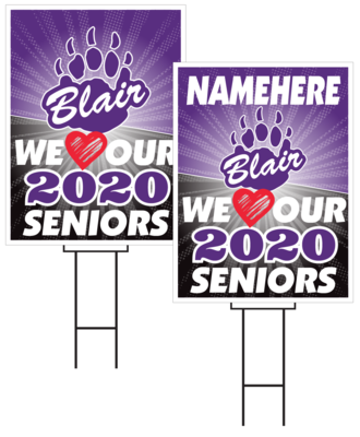 Blair Senior Sign