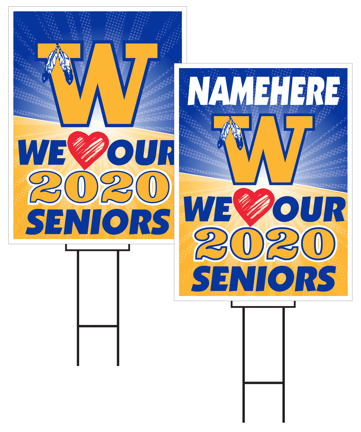 Wahoo Senior Sign